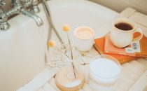 A relaxing bath set-up to help people with self-care after experiencing depression or anxiety