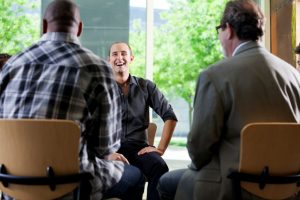 men discussing issues during men's group in Katy, TX 77494